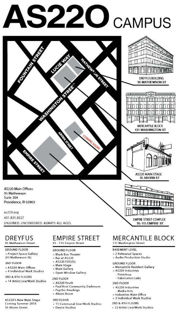 AS220 Campus Map Final with Programs vertical